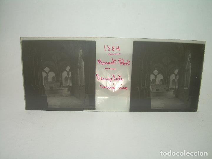 Fotografía antigua: CAJETIN 25 CRISTALES ESTEREOSCOPICOS...MONASTERIO POBLET EN RUINAS..ANTES DE SER RECONSTRUIDO CA1910 - Foto 26 - 92342180
