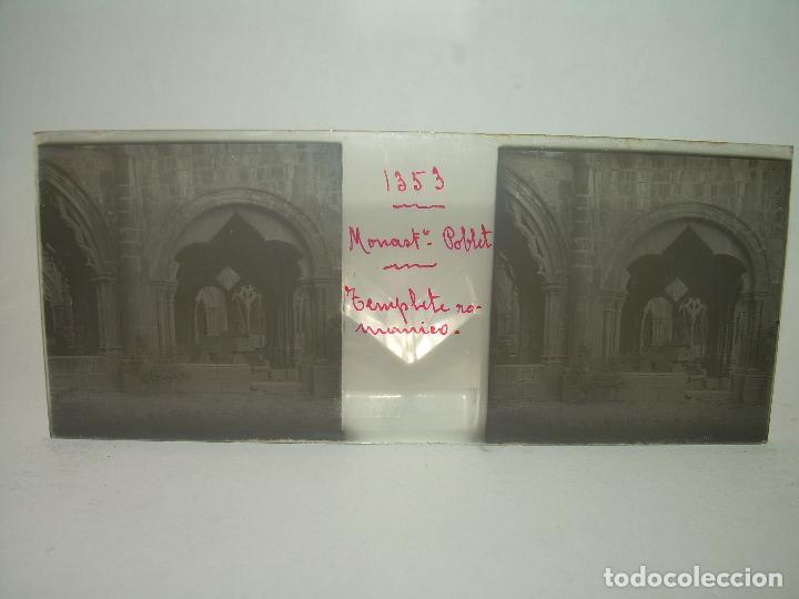 Fotografía antigua: CAJETIN 25 CRISTALES ESTEREOSCOPICOS...MONASTERIO POBLET EN RUINAS..ANTES DE SER RECONSTRUIDO CA1910 - Foto 27 - 92342180