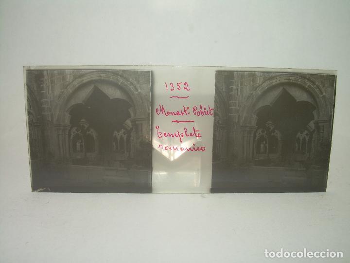 Fotografía antigua: CAJETIN 25 CRISTALES ESTEREOSCOPICOS...MONASTERIO POBLET EN RUINAS..ANTES DE SER RECONSTRUIDO CA1910 - Foto 28 - 92342180