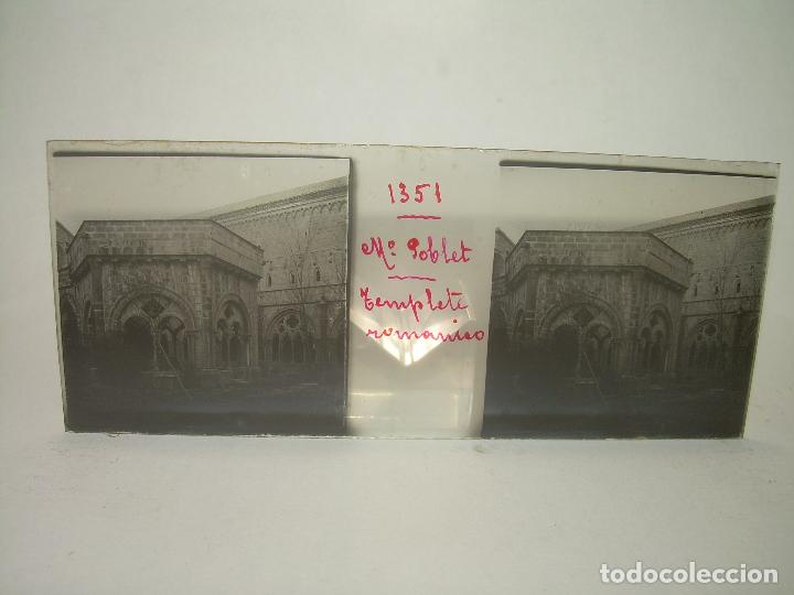 Fotografía antigua: CAJETIN 25 CRISTALES ESTEREOSCOPICOS...MONASTERIO POBLET EN RUINAS..ANTES DE SER RECONSTRUIDO CA1910 - Foto 30 - 92342180