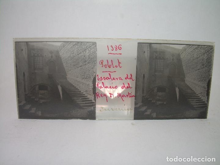 Fotografía antigua: CAJETIN 25 CRISTALES ESTEREOSCOPICOS...MONASTERIO POBLET EN RUINAS..ANTES DE SER RECONSTRUIDO CA1910 - Foto 34 - 92342180