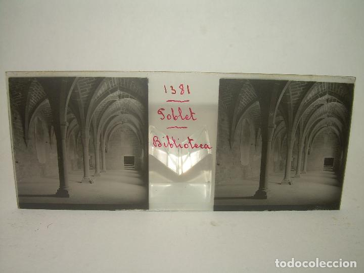 Fotografía antigua: CAJETIN 25 CRISTALES ESTEREOSCOPICOS...MONASTERIO POBLET EN RUINAS..ANTES DE SER RECONSTRUIDO CA1910 - Foto 35 - 92342180