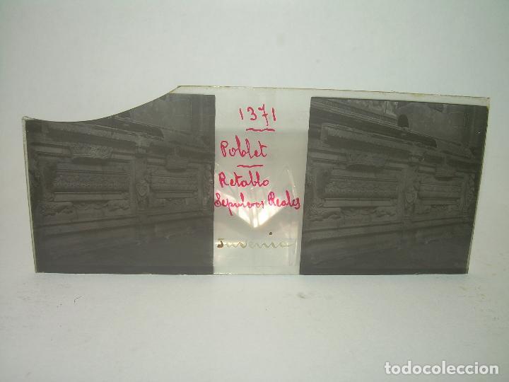Fotografía antigua: CAJETIN 25 CRISTALES ESTEREOSCOPICOS...MONASTERIO POBLET EN RUINAS..ANTES DE SER RECONSTRUIDO CA1910 - Foto 36 - 92342180