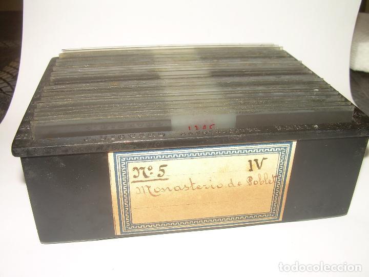Fotografía antigua: CAJETIN 25 CRISTALES ESTEREOSCOPICOS...MONASTERIO POBLET EN RUINAS..ANTES DE SER RECONSTRUIDO CA1910 - Foto 40 - 92342180