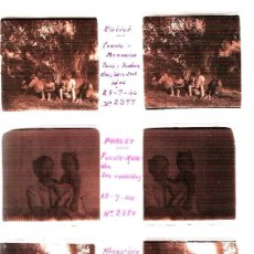 Fotografía antigua: POBLET TARRAGONA 1940 4 PLACAS ESTEREOSCOPICAS POSITIVO CRISTAL FOTOGRAFIA ANTIGUA. Lote 92816300