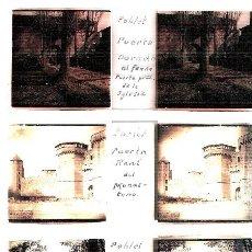 Fotografía antigua: POBLET TARRAGONA 1940 5 PLACAS ESTEREOSCOPICAS POSITIVO CRISTAL FOTOGRAFIA ANTIGUA. Lote 92816360