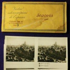 Fotografía antigua: 15 VISTAS ESTEREOSCÓPICAS DE ESPAÑA. SEGOVIA. 1ª SERIE. COLECCIÓN Nº 30. 1932. COMPLETA. RELLEV. . Lote 93363165