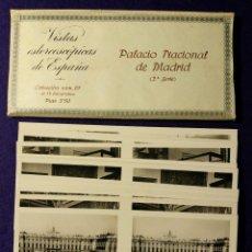 Fotografía antigua: 15 VISTAS ESTEREOSCÓPICAS DE ESPAÑA. PALACIO NACIONAL DE MADRID. 2ª SERIE. Nº 67. 1932. COMPLETA. Lote 93363810