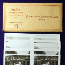 Fotografía antigua: 15 VISTAS ESTEREOSCÓPICAS DEL EXTRANJERO. ESTATUAS DE LOS JARDINES DE PARIS. 1ª SERIE. 1932.COMPLETA. Lote 93365165