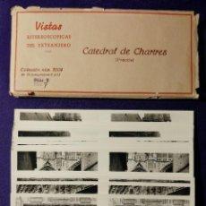 Fotografía antigua: 15 VISTAS ESTEREOSCÓPICAS DEL EXTRANJERO. CATEDRAL DE CHARTRES (FRANCIA). N° 2009. 1932. COMPLETA. Lote 93365390