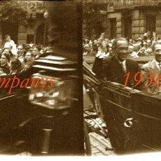 Fotografía antigua: LLUÍS COMPANYS - 1936 - NEGATIU DE VIDRE . Lote 93712040