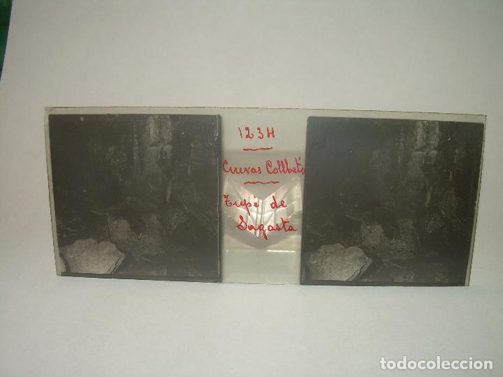 Fotografía antigua: DIECINUEVE CRISTALES ESTEREOSCOPICOS.....CUEVAS DE COLLBATÓ.....CIRCA..1.900 - Foto 2 - 93849970