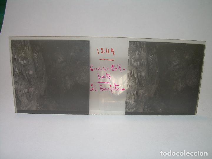 Fotografía antigua: DIECINUEVE CRISTALES ESTEREOSCOPICOS.....CUEVAS DE COLLBATÓ.....CIRCA..1.900 - Foto 3 - 93849970