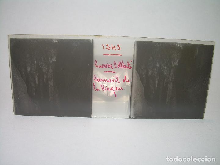 Fotografía antigua: DIECINUEVE CRISTALES ESTEREOSCOPICOS.....CUEVAS DE COLLBATÓ.....CIRCA..1.900 - Foto 7 - 93849970