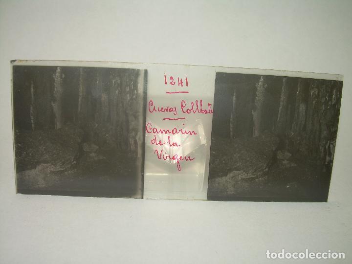 Fotografía antigua: DIECINUEVE CRISTALES ESTEREOSCOPICOS.....CUEVAS DE COLLBATÓ.....CIRCA..1.900 - Foto 9 - 93849970