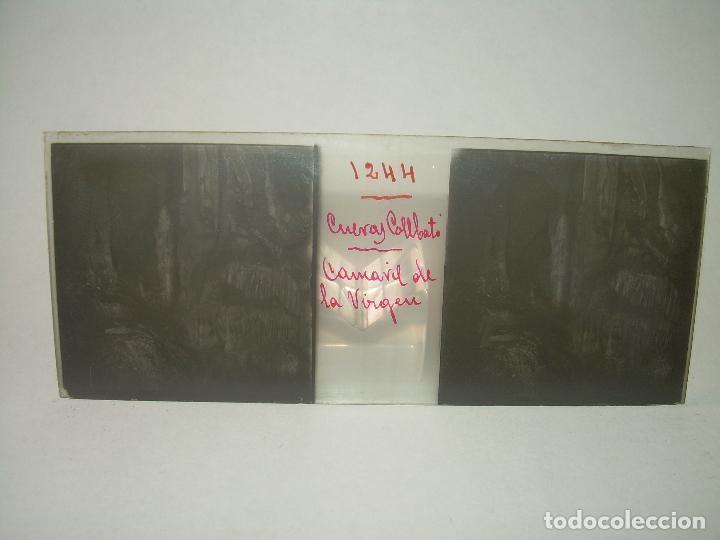 Fotografía antigua: DIECINUEVE CRISTALES ESTEREOSCOPICOS.....CUEVAS DE COLLBATÓ.....CIRCA..1.900 - Foto 10 - 93849970