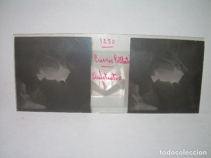 Fotografía antigua: DIECINUEVE CRISTALES ESTEREOSCOPICOS.....CUEVAS DE COLLBATÓ.....CIRCA..1.900 - Foto 14 - 93849970