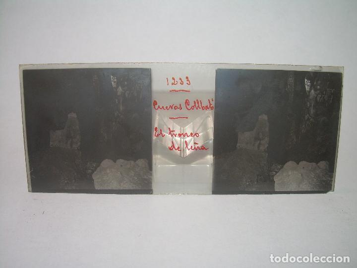Fotografía antigua: DIECINUEVE CRISTALES ESTEREOSCOPICOS.....CUEVAS DE COLLBATÓ.....CIRCA..1.900 - Foto 15 - 93849970