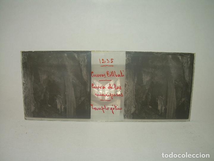 Fotografía antigua: DIECINUEVE CRISTALES ESTEREOSCOPICOS.....CUEVAS DE COLLBATÓ.....CIRCA..1.900 - Foto 17 - 93849970