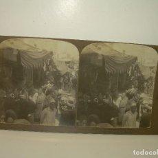 Fotografía antigua: FOTOGRAFIA ESTERESOCOPICA DE CARTON.......EL CAIRO....EGIPTO......AÑO 1.900. Lote 93852275