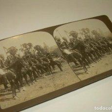 Fotografía antigua: FOTOGRAFIA ESTERESOCOPICA DE CARTON.......CORONACION...LANCEROS....LONDRES......AÑO 1.903. Lote 93852690