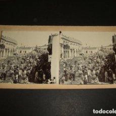 Fotografía antigua: VALVERDE DEL CAMINO HUELVA 10 VISTA ESTEREOSCOPICAS Y 4 FOTOGRAFIAS HACIA 1890 PROCESIONES ETC.... Lote 94128345