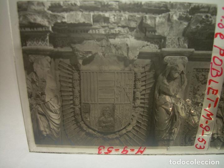 Fotografía antigua: CINCO CRISTALES ESTEREOSCOPICOS......MONASTERIO POBLET....CIRCA. 1.900 - Foto 3 - 94491542