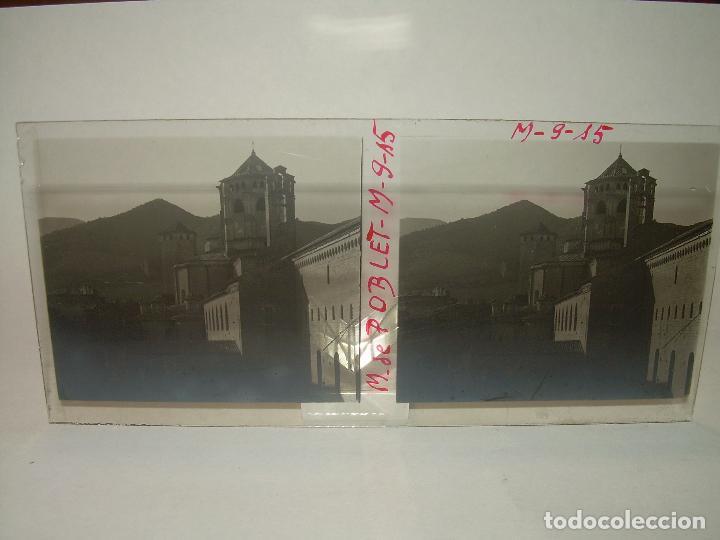 Fotografía antigua: CINCO CRISTALES ESTEREOSCOPICOS......MONASTERIO POBLET....CIRCA. 1.900 - Foto 6 - 94491542