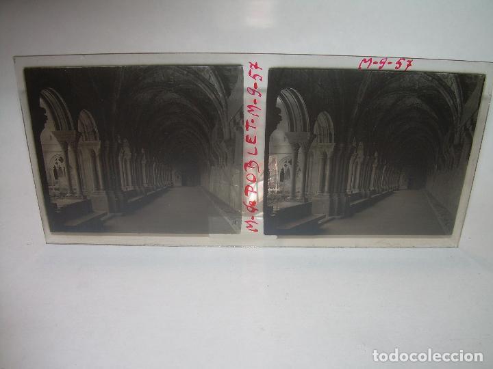 Fotografía antigua: CINCO CRISTALES ESTEREOSCOPICOS......MONASTERIO POBLET....CIRCA. 1.900 - Foto 7 - 94491542