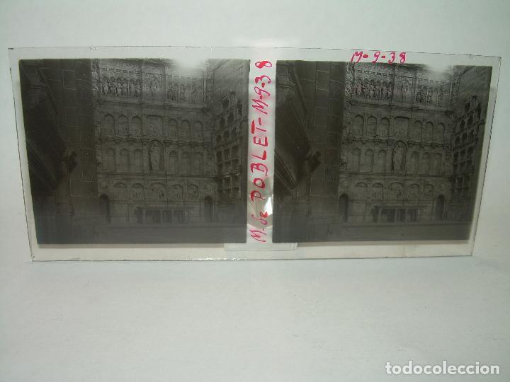 Fotografía antigua: CINCO CRISTALES ESTEREOSCOPICOS......MONASTERIO POBLET....CIRCA. 1.900 - Foto 8 - 94491542