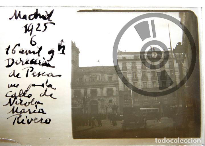 MADRID - CRISTAL ESTEREOSCÓPICO - CALLE NICOLÁS MARÍA RIVERO (ACTUAL CALLE CEDACEROS) - AÑO 1925 (Fotografía Antigua - Estereoscópicas)