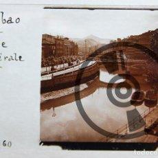 Fotografía antigua: BILBAO - CRISTAL ESTEREOSCÓPICO - LA RÍA DE BILBAO - FOTOGRAFÍA ÚNICA - PRINCIPIOS SIGLO XX. Lote 94801947