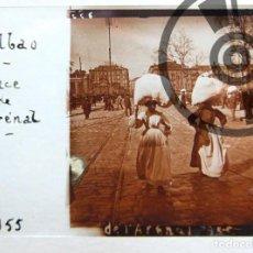 Fotografía antigua: BILBAO - CRISTAL ESTEREOSCÓPICO - PLAZA DEL ARENAL - FOTOGRAFÍA ÚNICA - PRINCIPIOS SIGLO XX. Lote 94803135