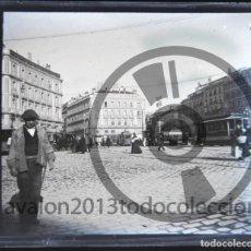 Fotografía antigua: MADRID - CRISTAL ESTEREOSCÓPICO NEGATIVO - PUERTA DEL SOL - FOTOGRAFÍA ÚNICA - PRINCIPIOS SIGLO XX. Lote 94859227