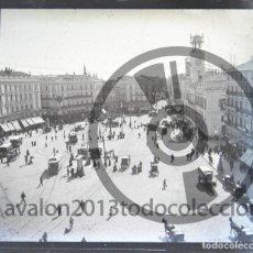 Fotografía antigua: MADRID - CRISTAL ESTEREOSCÓPICO NEGATIVO - PUERTA DEL SOL - FOTOGRAFÍA ÚNICA - PRINCIPIOS SIGLO XX. Lote 94859491