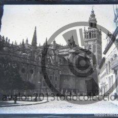 Fotografía antigua: SEVILLA - CRISTAL ESTEREOSCÓPICO NEGATIVO - LA CATEDRAL - FOTOGRAFÍA ÚNICA - PRINCIPIOS SIGLO XX. Lote 94859767