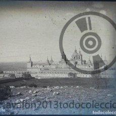 Fotografía antigua: SAN LORENZO DE EL ESCORIAL - CRISTAL ESTEREOSCÓPICO NEGATIVO - MONASTERIO DE EL ESCORIAL . Lote 94861895