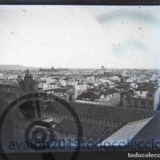 Fotografía antigua: SEVILLA - CRISTAL ESTEREOSCÓPICO NEGATIVO - VISTA DESDE LA CATEDRAL - FOTOGRAFÍA ÚNICA. Lote 94862207