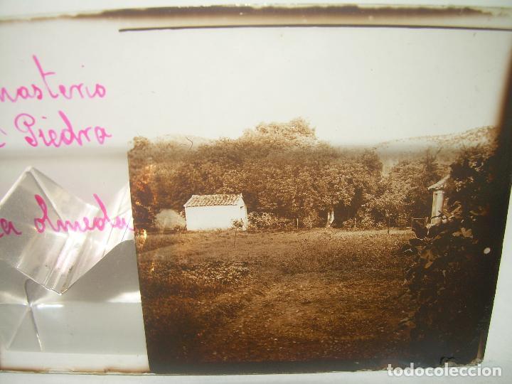 Fotografía antigua: 25 CRISTALES ESTEREOSCOPICOS....ZARAGOZA...MONASTERIO DE PIEDRA....CIRCA..1.900 - Foto 7 - 95302399
