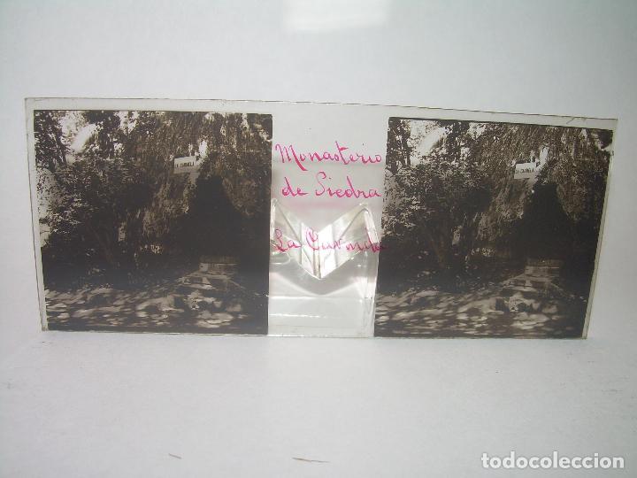 Fotografía antigua: 25 CRISTALES ESTEREOSCOPICOS....ZARAGOZA...MONASTERIO DE PIEDRA....CIRCA..1.900 - Foto 12 - 95302399