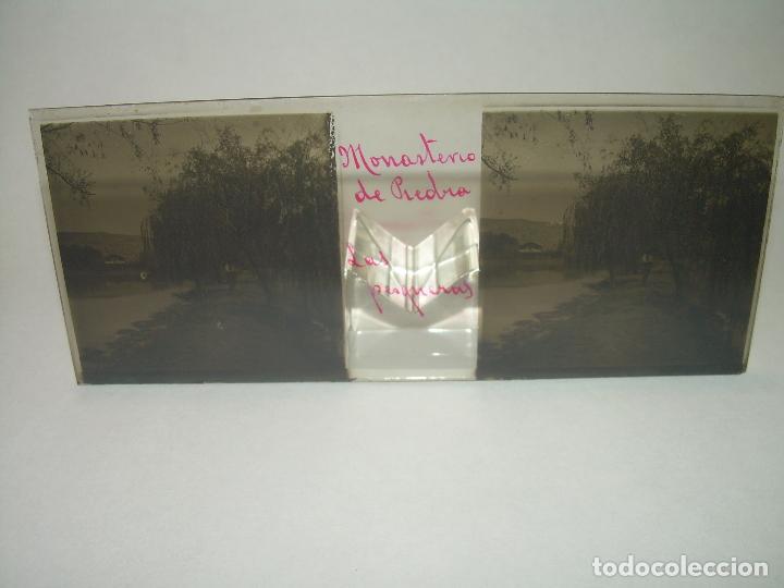 Fotografía antigua: 25 CRISTALES ESTEREOSCOPICOS....ZARAGOZA...MONASTERIO DE PIEDRA....CIRCA..1.900 - Foto 13 - 95302399