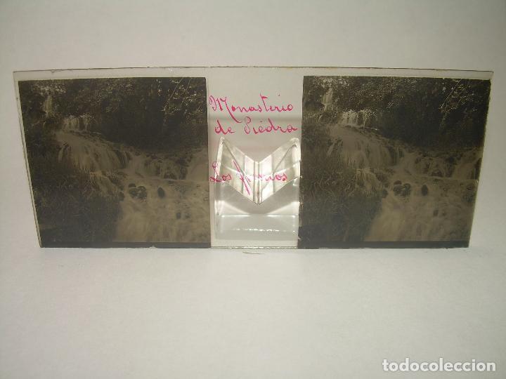Fotografía antigua: 25 CRISTALES ESTEREOSCOPICOS....ZARAGOZA...MONASTERIO DE PIEDRA....CIRCA..1.900 - Foto 14 - 95302399