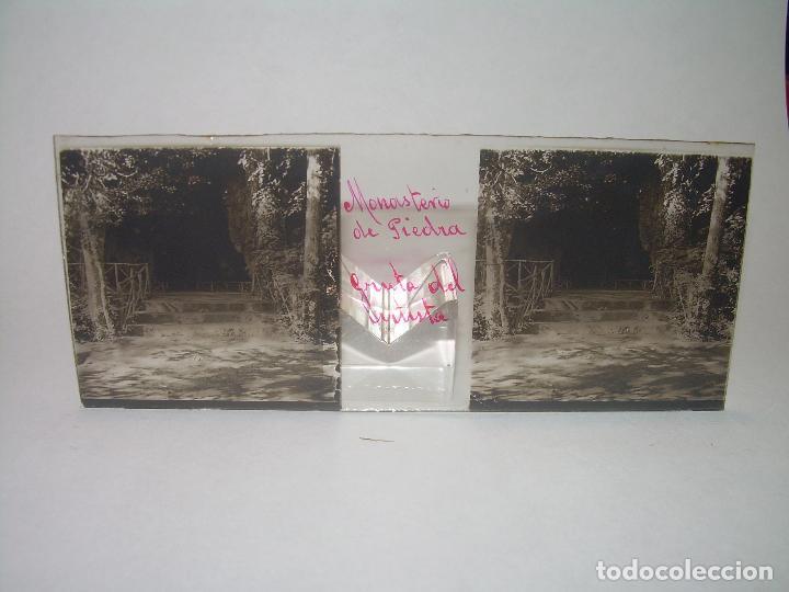 Fotografía antigua: 25 CRISTALES ESTEREOSCOPICOS....ZARAGOZA...MONASTERIO DE PIEDRA....CIRCA..1.900 - Foto 16 - 95302399