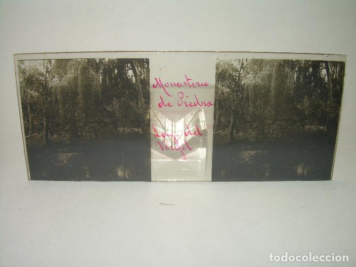 Fotografía antigua: 25 CRISTALES ESTEREOSCOPICOS....ZARAGOZA...MONASTERIO DE PIEDRA....CIRCA..1.900 - Foto 19 - 95302399