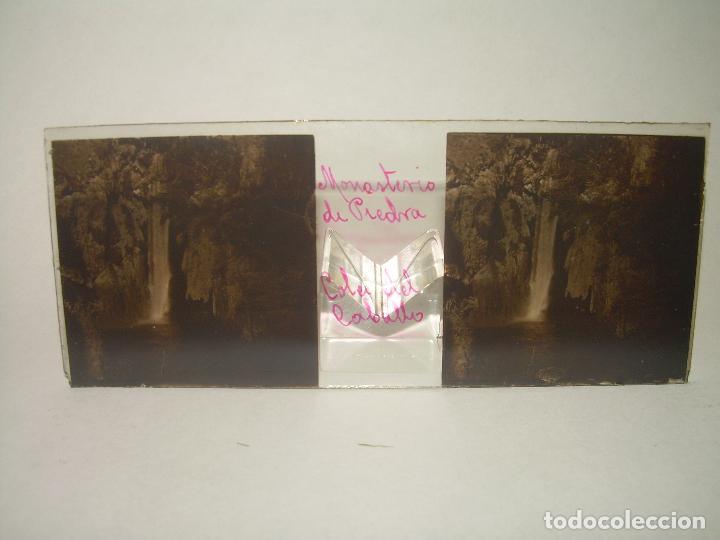 Fotografía antigua: 25 CRISTALES ESTEREOSCOPICOS....ZARAGOZA...MONASTERIO DE PIEDRA....CIRCA..1.900 - Foto 21 - 95302399