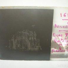 Fotografía antigua: DOS CRISTALES ESTEREOSCOPICOS........BARCELONA..DE NOCHE...PL.CATALUNYA. FIESTAS .. 1.910. Lote 95490843