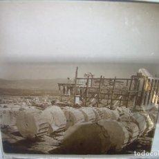 Fotografía antigua: 2 CRISTALES ESTEREOSCOPICOS........GRECIA ...ATENAS.....CIRCA...1900. Lote 96995207