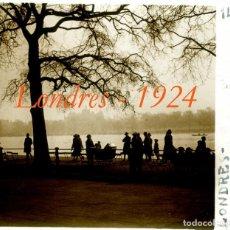 Fotografía antigua: LONDRES - 1924 - POSITIVO DE VIDRIO. Lote 97182327