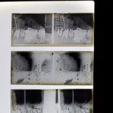 Fotografía antigua: 4 CRISTALES BARCELONA PRINCIPIO SIGLO XX RAMBLAS, DUCH Y MUNDIAL PALACE. Lote 97463911