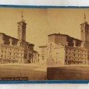 Fotografía antigua: FOTO ESTEREOSCOPICA ALBUMINA. JEAN LAURENT. 1722 TORRE DE SAN MIGUEL. ZARAGOZA.. Lote 97632727